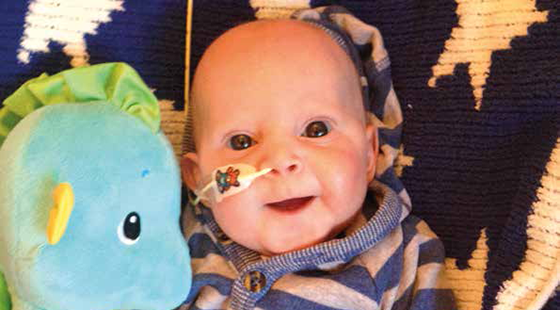 The Cave family have fundraised in memory of baby Cameron
