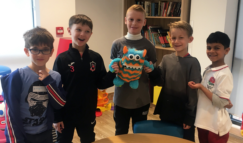 Worry Monster moves in to the Children's Allergy Service