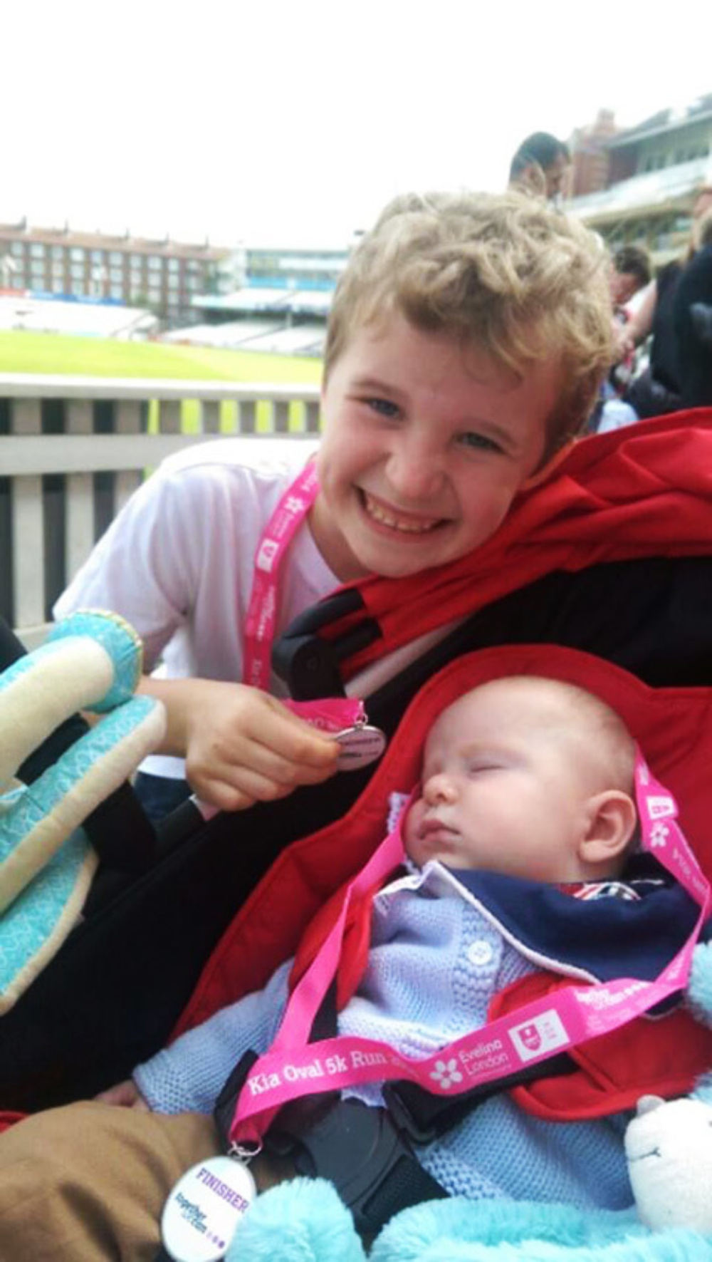 Alfie and George at the Kia Oval