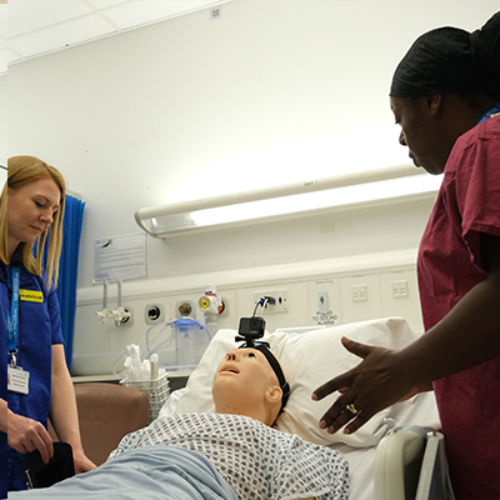 Staff training at the Simulation and Interactive Learning Centre