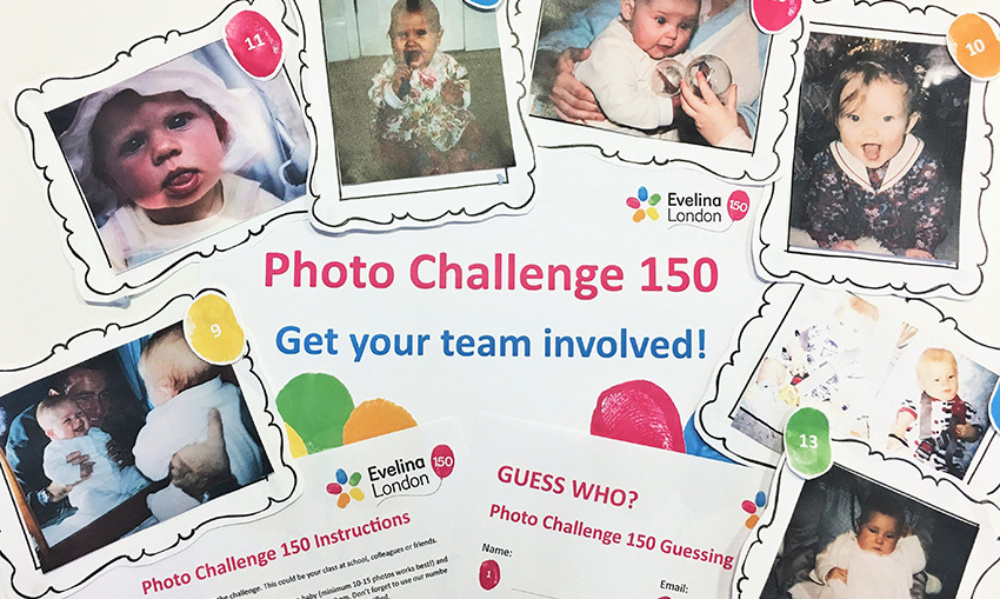 A collage of baby photos of the current Evelina London Fundraising Team