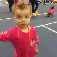 2 year old boy at sports centre